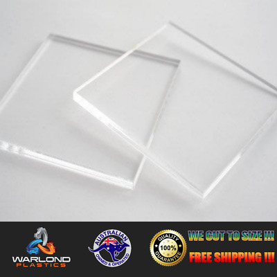 CLEAR ACRYLIC SHEET/ PANELS Select Size (3mm THICK) - commonly known as perspex