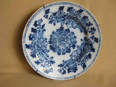 18th C. Dutch Delft Plate Marked