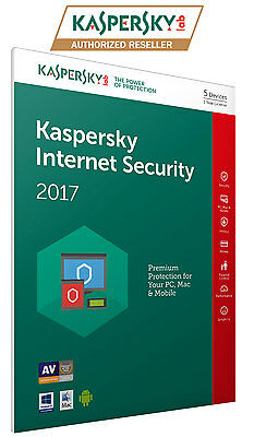 Kaspersky Internet Security 2016 5 User 1 Year for Android, PC, MAC, IOS, Window