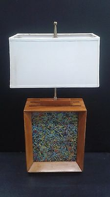 LAMP Authentic MODERNAGE/NY 1950's Lamp Mid-Century Modern Picture Frame Design