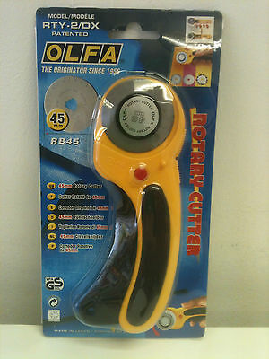 Olfa RTY-2/DX 45mm Rotary Cutter Made In Japan