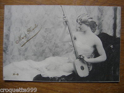 Carte postale Postcard Pin up mode theatre actrice mannequin MARY ROESLER 9