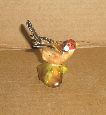 Bird Figurine Crown Staffordshire  Goldfinch