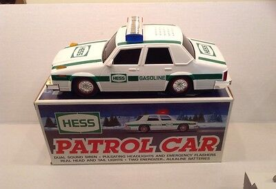 Hess Gasoline 1993 Toy Truck Patrol Car Police Cruiser Good Condition