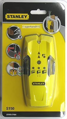 Stanley S150 Wood & Metal Stud Finder Sensor (Live Wire Cable Detector to 51mm)
