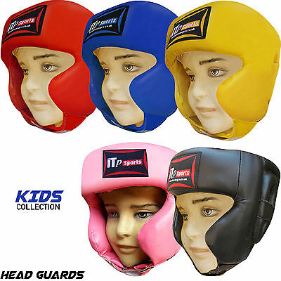 Kids Boxing Head Guard Helmet Martial Art Training Junior Children Kick Guard