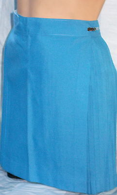 Pleated Skirts Sky Blue Polyviscose Sizes 4 - 6 - 8 - 10 - 12 - 14 - 16  and 20