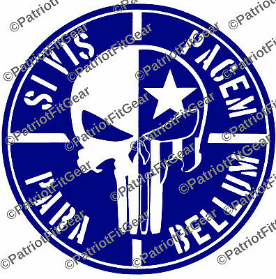 Si Vis Pacem Para Bellum,If you want peace,Punisher Skull,2A,Sticker,Vinyl decal