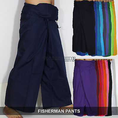 Thai Fisherman Pants Wickelhose YOGA Massage Kung Fu Tai Chi Casual Wrap Trouser