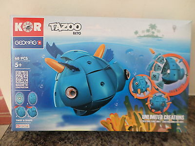 Geomag Kor Tazooo Beto 68 Piece New Free Post