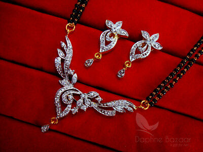 MS69 Daphne Flora Art Zircon Leafs Mangalsutra set for Women, Gift for Wife