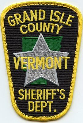 Grand Isle County Vermont Vt Sheriff Police Patch