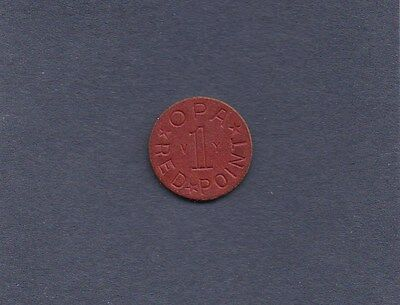 OPA RED Point Token War Ration WW2 Vintage Old Coin