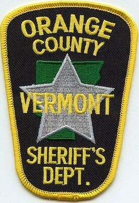 Orange County Vermont Vt Sheriff Police Patch