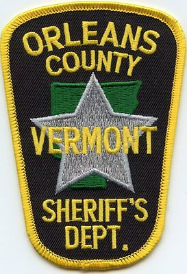 Orleans County Vermont Vt Sheriff Police Patch