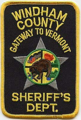 WINDHAM COUNTY VERMONT VT Gateway To Vermont SHERIFF POLICE PATCH