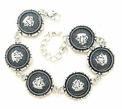 Authentic Wedgwood Cameos on Silver Plate Bracelet - Ships on Speckled Grey