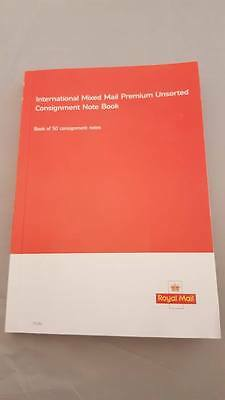 Royal Mail International Mixed Mail Premium Unsorted Consignment Note Book Of 50