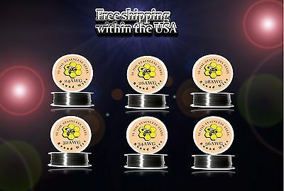 (6pcs)100ft Roll of Each Gauge 24,26,28,32,34,36 - SS 316L Resistance Wire