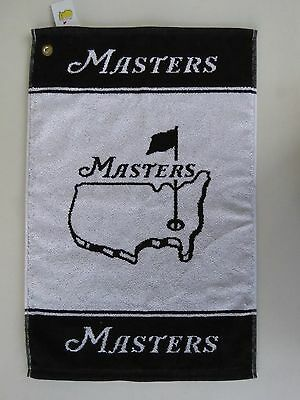 """2016 MASTERS GOLF BAG TOWEL Black/White SIZE 15""""x 24"""" from AUGUSTA NATIONAL GC"""