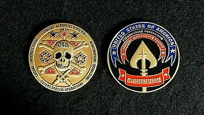 "Central Intelligence Agency Cia Lethal Covert Action 2"" Challenge Coin - Rare!"