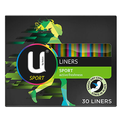 NEW U By Kotex Panty Liner Pack Soft Sport Liners Keep Dry While Exercising 30