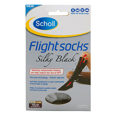 NEW Scholl Flight Socks Women's High Compression Improves Blood Flow 6-8