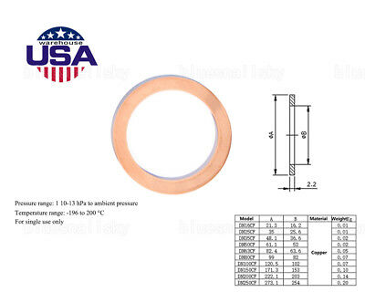 """Copper Gasket High Vacuum Pump Flange Fitting Parts for 6"""" Conflat CF100 New USA"""
