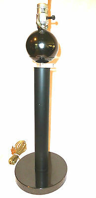 Mid Century Modern LUCITE AND METAL BALL LAMP Tall Contemporary Vintage '70s