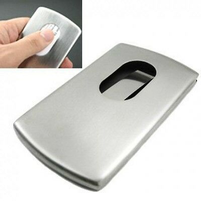 Box Case Name Business Credit Holder ID Card  Organizer Stainless Steel