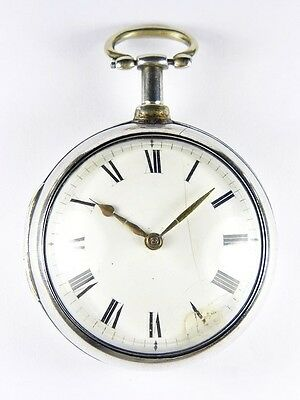 Antique English Silver Verge Fusee Pocket Watch Grayhurst & Harvey 1807 + Papers