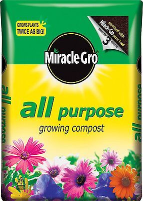 NEW! Miracle-Gro All Purpose Compost 50 Litres Free  Delivery Garden Growing