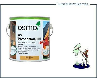 OSMO UV PROTECTION OIL EXTRA  420 CLEAR SATIN 750ml & 2.5L 2.5ltr
