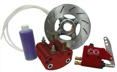 """Red Hydraulic Disc Brake Kit for 1"""" Axle Go Kart Racing Drift Trike Cart Parts"""