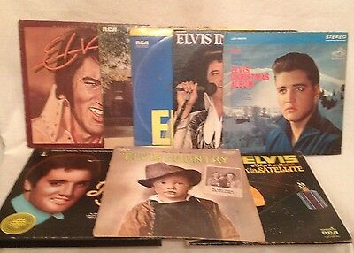 Elvis Presley Vinyl Albums Lot of Eight Albums/Total 15 Records - Used