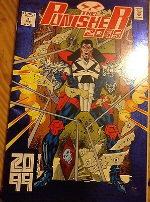 Comic book issue 1 of The Punisher 2099