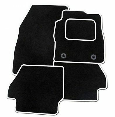 Kia Ceed 2012 ONWARDS TAILORED CAR FLOOR MATS- BLACK WITH WHITE TRIM