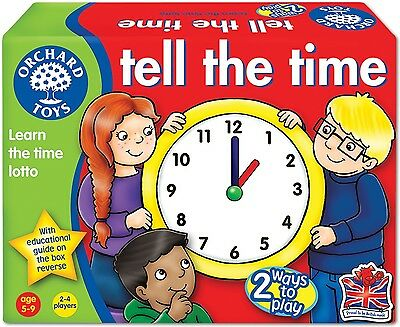 Orchard Toys TELL THE TIME Kids/Childrens Digital And Analogue Lotto Game BNIB