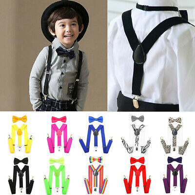 Cute Suspender and Bow Tie Set for Baby Toddler Kids Boys Girls Children