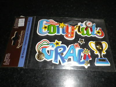 Recollections Congrats/Grad  Dimensional   Stickers