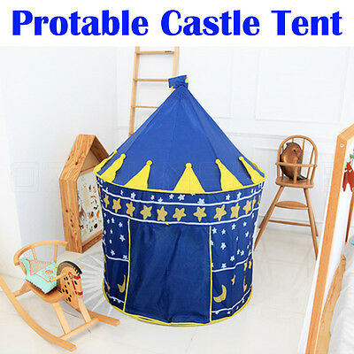 Portable Kids Play Tent Castle Princess Playhouse Indoor Outdoor Toy Gift Party
