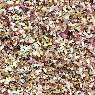 Vintage Garden Confetti Mix Biodegradable Dusty Pink Blush Peach Floral (1 Pack)