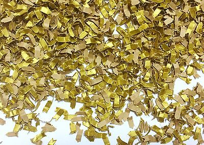 Gold & Kraft Biodegradable Confetti Sprinkles Wedding Table Throwing (1 Pack)