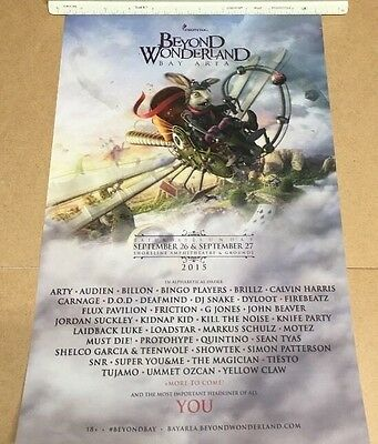 "Insomniac Beyond Wonderland Bay Area 2015 Music Festival Event Poster 24"" x 36"""