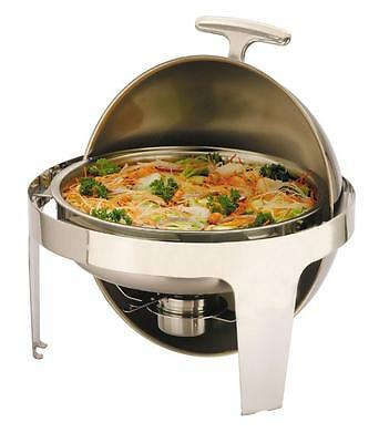 6.8ltrs Super Luxury Round Chafing Dish Chafer Set  with a Roll Top Lid £99+VAT