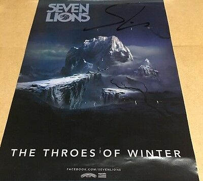 Seven Lions The Throes Of Winter Autographed 17 X11 Billy Graham SF Event Poster