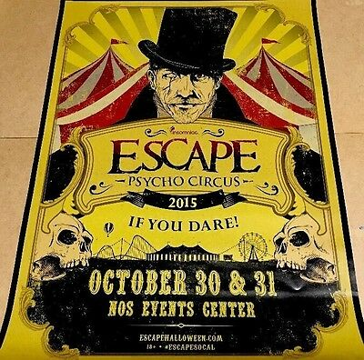 "Insomniac: Psycho Circus - Escape If You Dare 2015 24x18"" Event Promotion Poster"