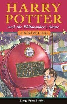 Harry Potter and the Philosopher's Stone by J.K. Rowling Hardcover (Classic larg