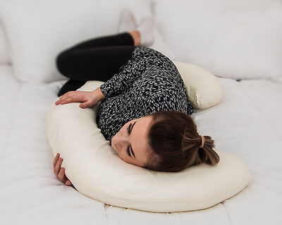 Premium Pregnancy / Maternity Support C Shape Pillow With FREE Case - UK MADE!