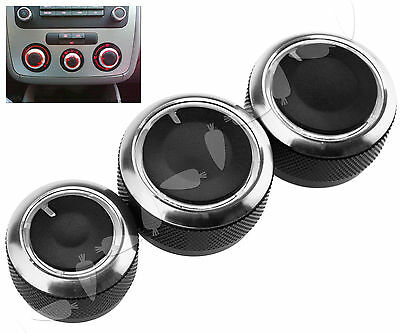 3PCS Air Condition Knob Switch Heat Control Button For Golf MK4 2004-2011